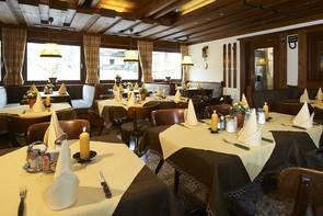 das gemütliche Restaurant im Hotel Peter